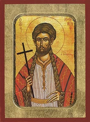 Saint Constantine of Hydra Greek Orthodox Icon