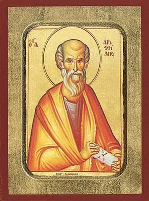 Saint Aristeides Greek Orthodox Icon