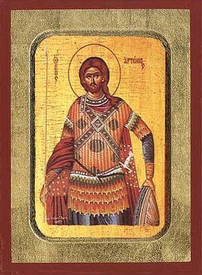 Saint Artemios Greek Orthodox Icon