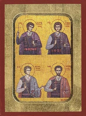 Four Holy Neomartyrs of Rethymne Greek Orthodox Icon