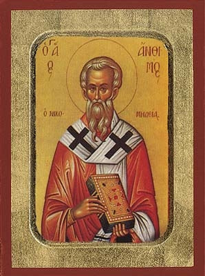 Saint Anthimos Greek Orthodox Icon