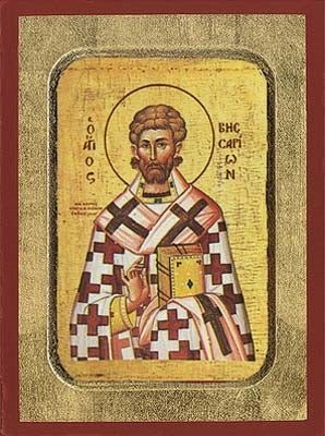 Saint Bessarion Greek Orthodox Icon
