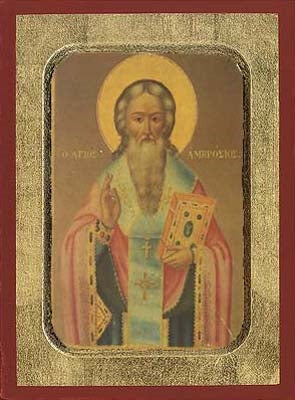 Saint Ambrosios Greek Orthodox Icon
