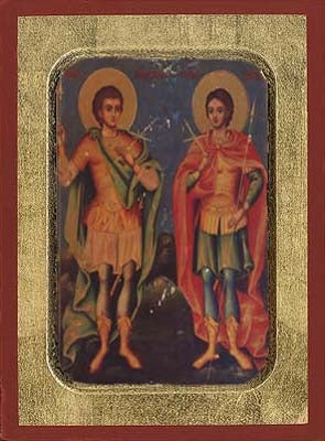 Holy Martyrs Sergios & Vakhos Greek Orthodox Icon