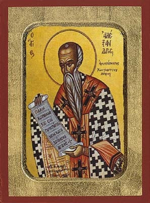 Saint Alexander, Patriarch of Constantinople Greek Orthodox Icon