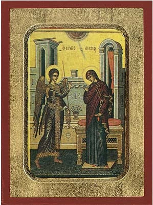 The Annunciation Greek Orthodox Icon
