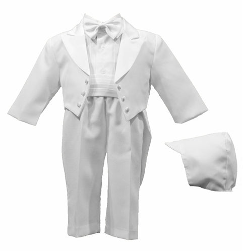 Poly Gabardine Authentic White Tuxedo with Tails