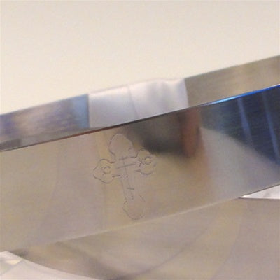 Crown Pair: Byzantine Stainless Steel
