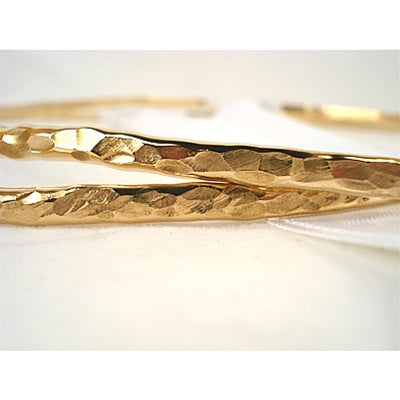 Crown Pair: Hammered Gold