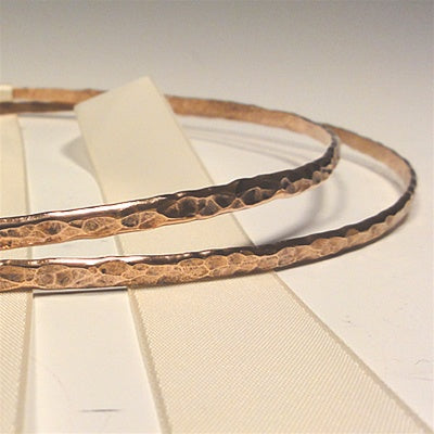 Crown Pair: Hammered Copper