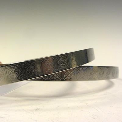 Crown Pair: Celtic Stainless Steel