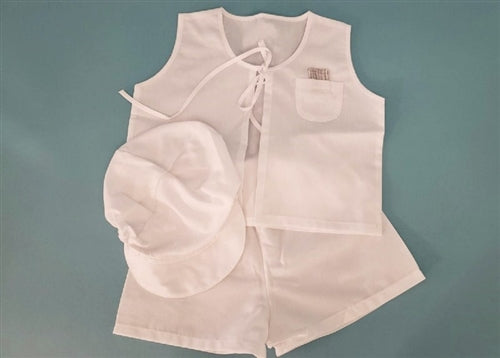 7 Piece - Double Faced Linen Boy's Lathopana Set