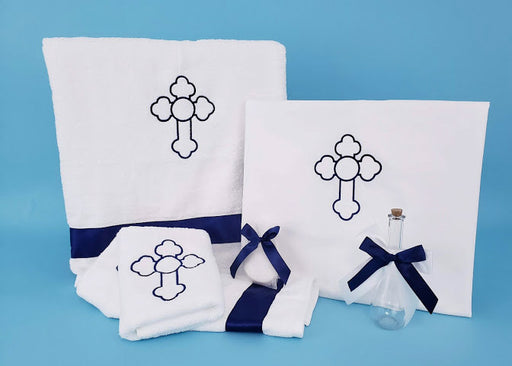 6 Piece Oil and Towel Set - Orthodox Cross