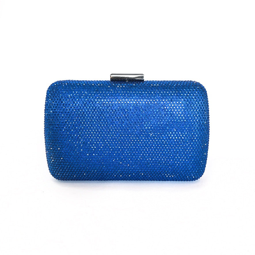 SAMANTHA | Royal Blue Crystal Clutch