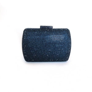 CANDICE |  Navy Crystal Clutch