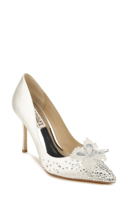 BADGLEY MISCHKA | Halo Flower Embellished pointed Toe Pump