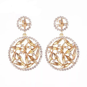 ANNA CHMPAGNE | Crystal Stone Round Drop Earring