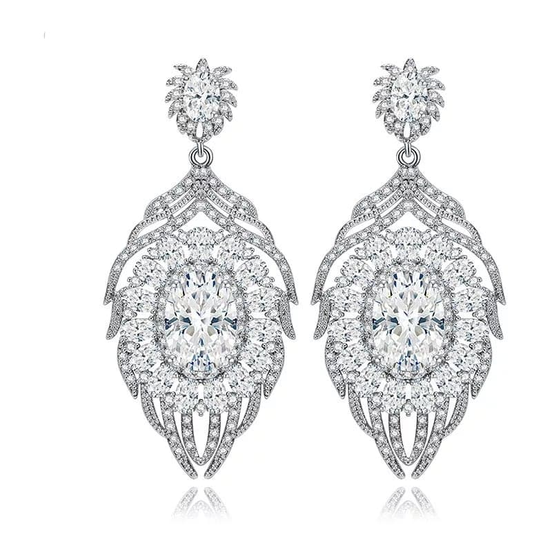 LOUISE | Chandelier Cubic Zirconia Earrings