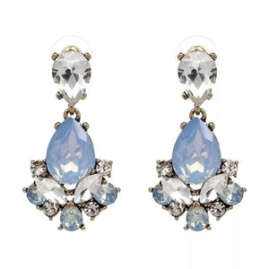 CLARA PALE BUE | Crystal Drop Earring