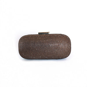 Bronze Crystal Clutch