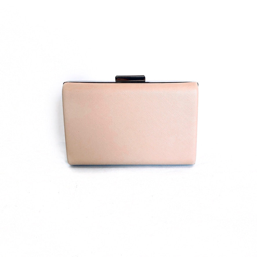 ADRIANA |  Rose Nude Clutch