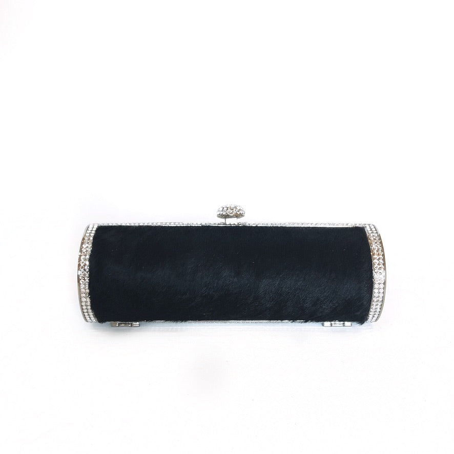 MIRANDA | Black and Crystal Clutch