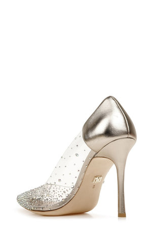 BADGLEY MISCHKA |GISELA CRYSTAL RHINESTONE EVENING PUMP