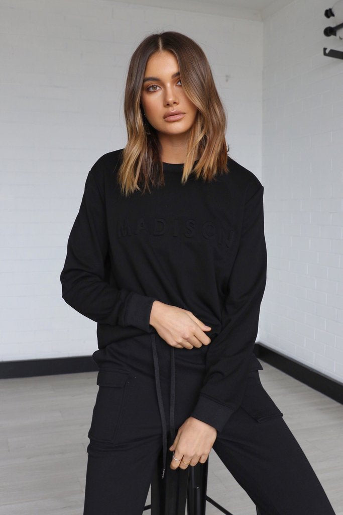 MADISON THE LABEL | Madison Embossed Sweater
