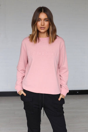 MADISON THE LABEL | Madison Embossed sweater - Musk