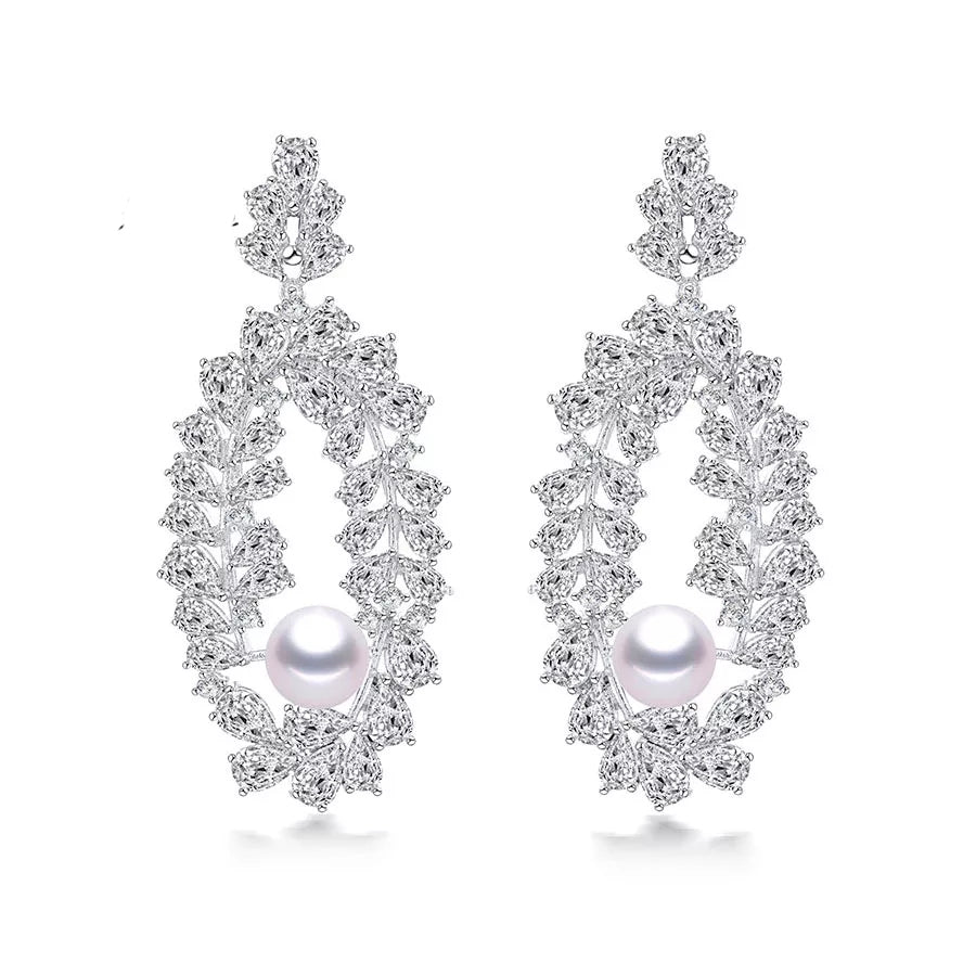 KAYLA | Ornamental Pearl Drop Earring