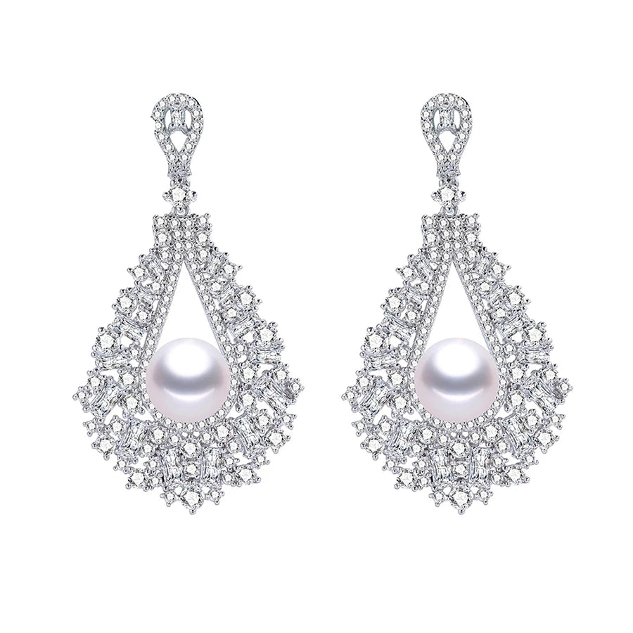 BRIDGETTE | Ornamental Pearl Drop Earring