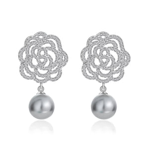 CELESTE | Ornamental Pearl Drop Earring