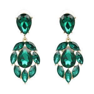 EMELIA EMERALD | Crystal Drop Earring