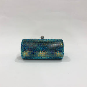 Blue Crystal Clutch