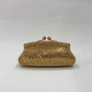 'Old-Gold' Crystal Clutch