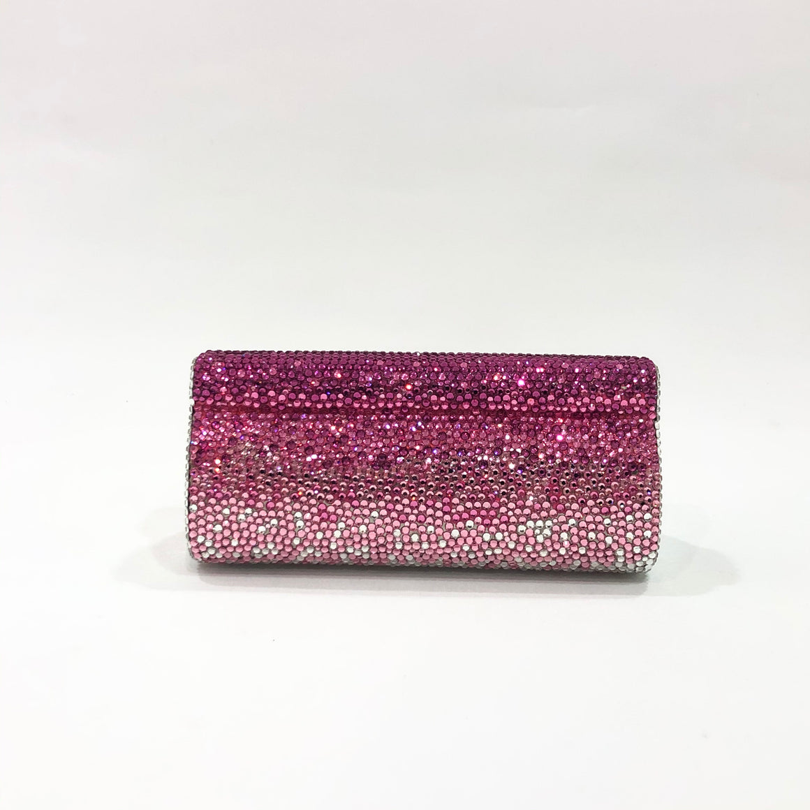 Pink Gradient Crystal Clutch