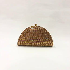 Half-Moon Crystal Clutch