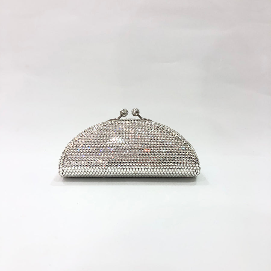 Half Moon Crystal Clutch