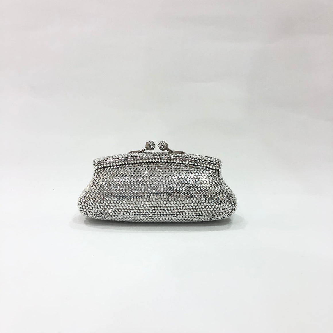Kiss Lock Crystal Clutch