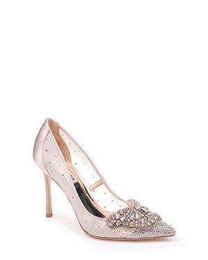 BADGLEY MISHKA | Quintana Crystal Ornamented Pump