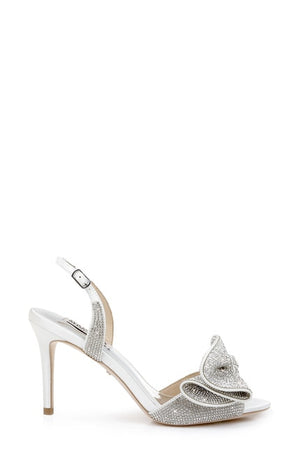 BADGLEY MISHKA | Rennie Statement stiletto Heel - White
