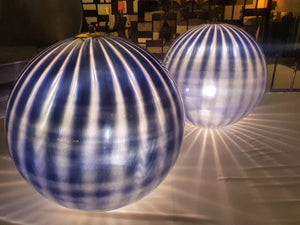 "Pair of Large Murano ""Bauble"" lamps"