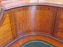 Load image into Gallery viewer, Edwardian Satinwood Carlton House Desk