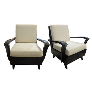 1930's French pair of armchairs