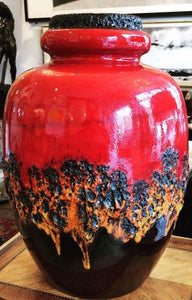 Monumental 1970s ceramic vase by Scheurich, West Germany