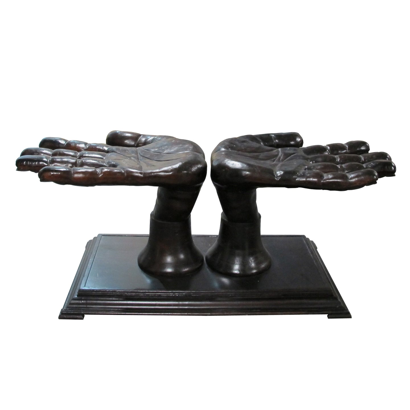 Dining table in the shape of two hands