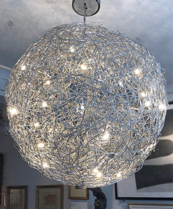 Cattelani and Smith globe chandelier ceiling light