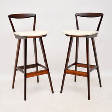 Load image into Gallery viewer, Pair of Danish Rosewood Bar Stools By Henry Rosengren Hansen