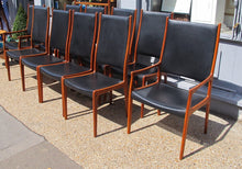 Load image into Gallery viewer, Rare set of ten Danish 1960s/70s  teak dining chairs