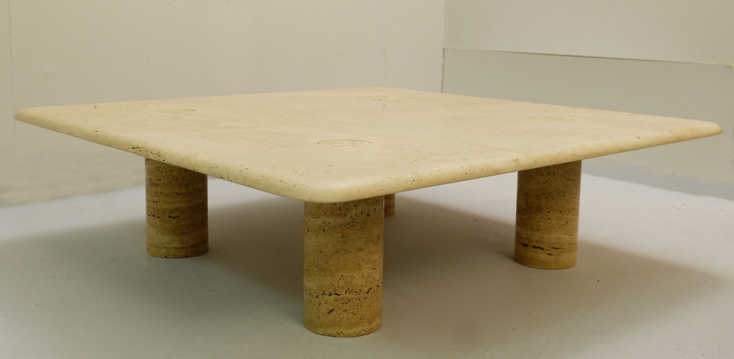 Travertine Coffee Table by Angelo Mangiarotti
